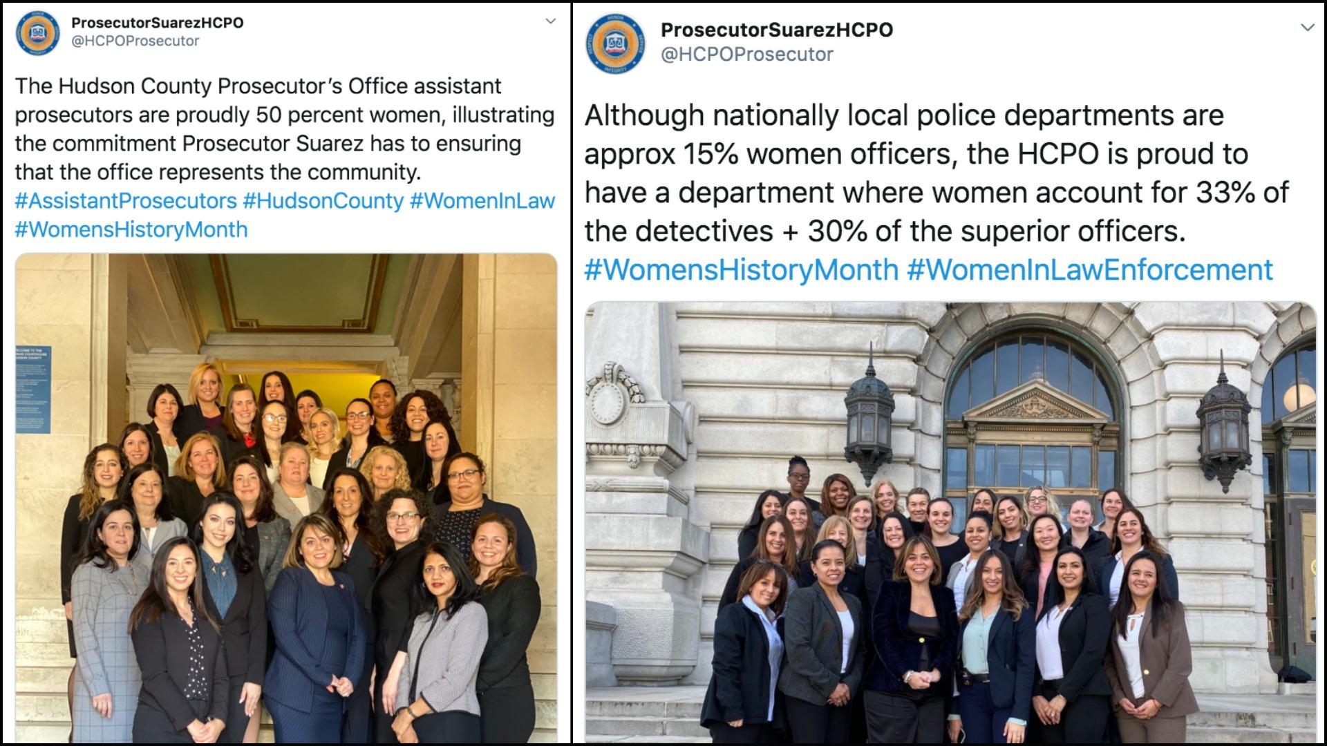 Gender diversity in Hudson County