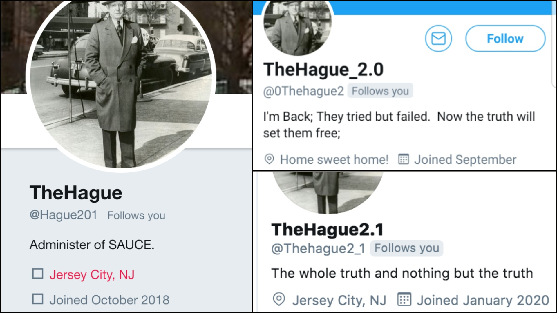 The Hague - Jersey City Twitter