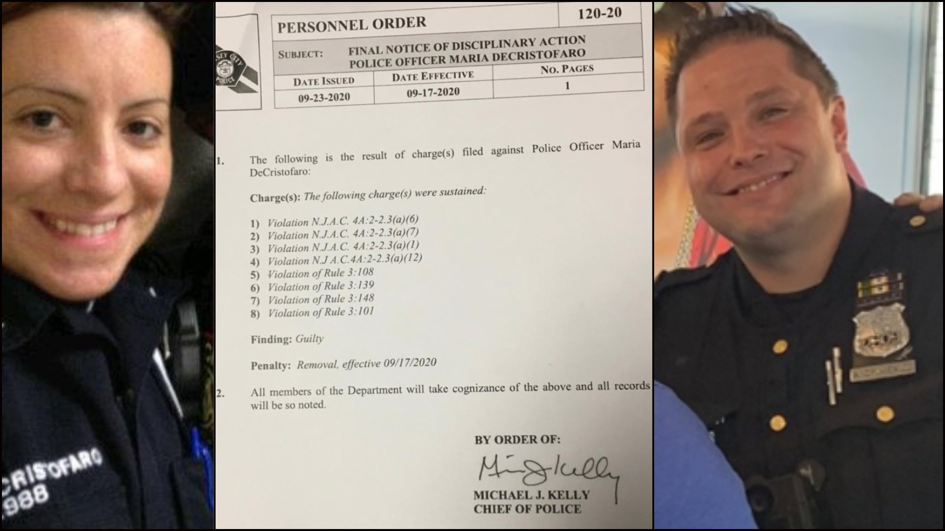 Maria DeCristofaro - Arkadiusz Zylkiewicz - Jersey City Police Dept.