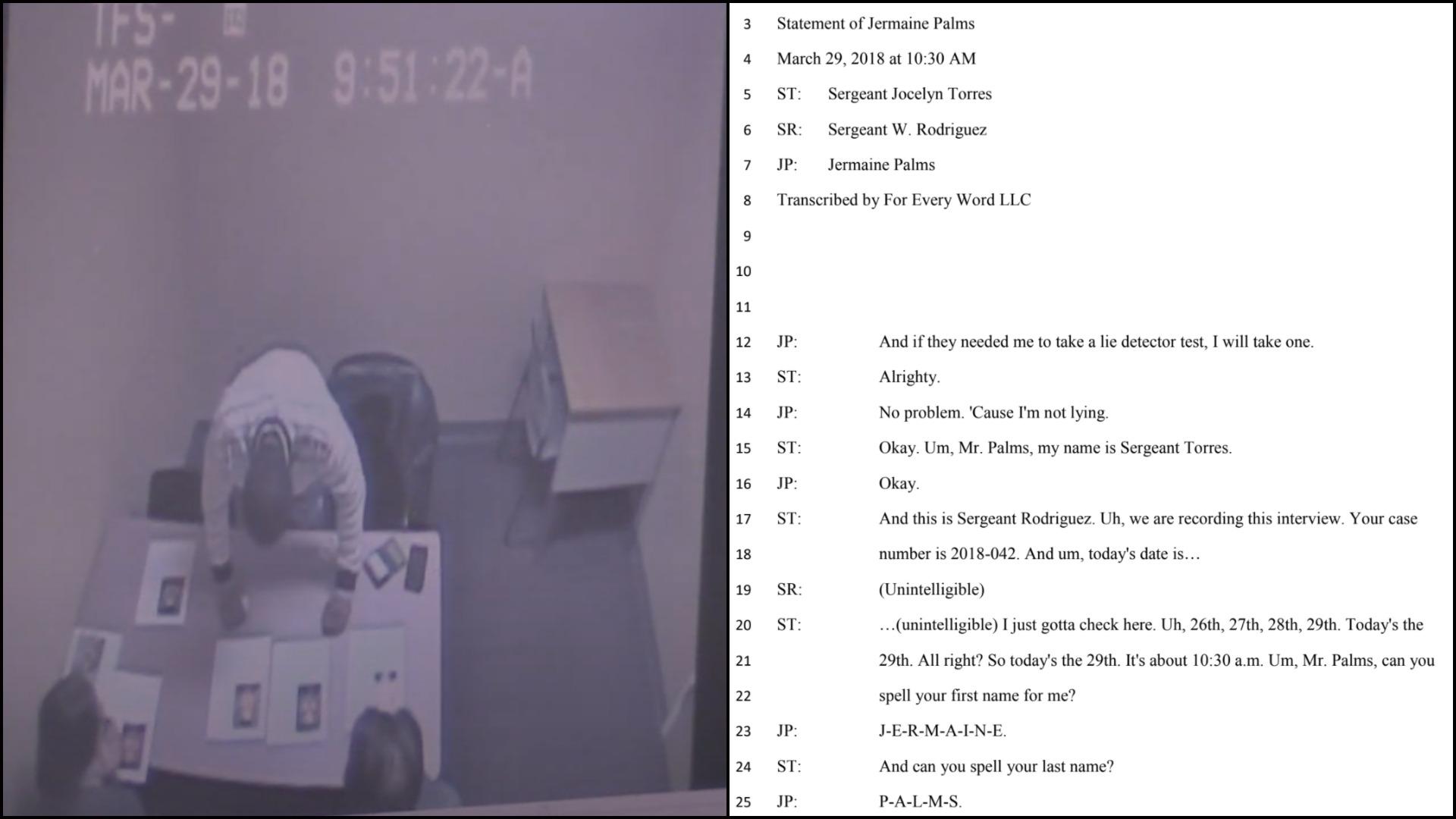 Sgt. Jocelyn Roldan (Torres) - Jersey City Internal Affairs - Transcript - CCTV timestamp