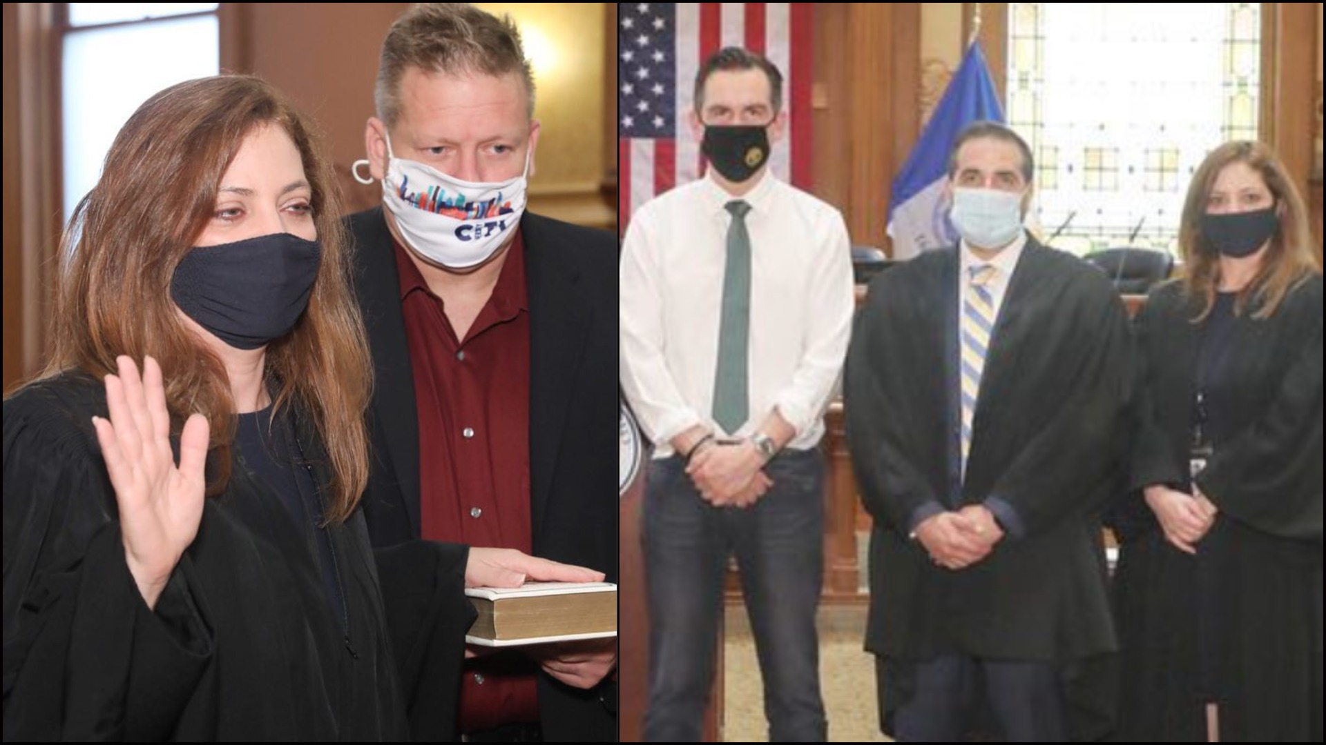 Judge Karen DeSoto - Joseph Olszewski - Mayor Steven Fulop - Judge Ramy Eid - Jersey City