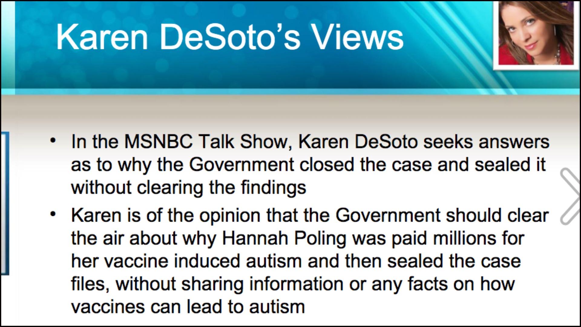 Karen DeSoto - MMR:Autism - Powerpoint